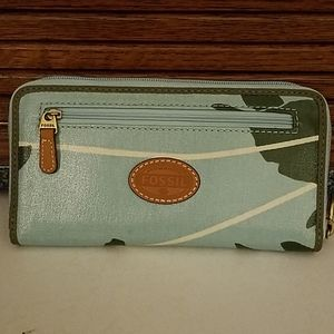 New fossil sea turtle zip-around wallet